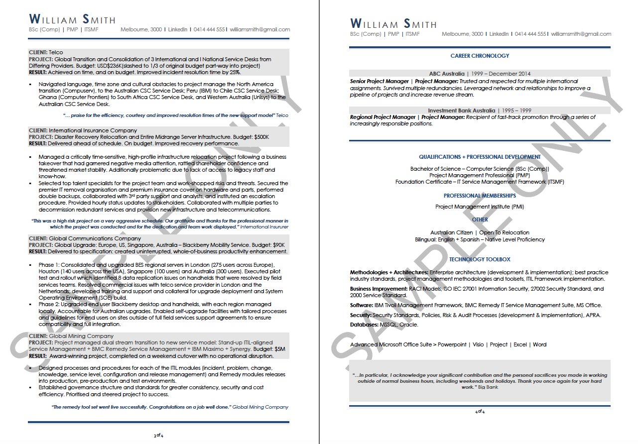 Sample Resumes, Resume Examples, Best Resumes