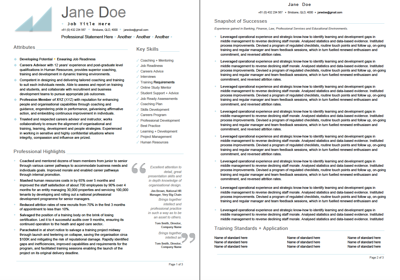 TD Resume Training And Development Resume Emample Hr Resume Best